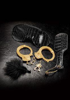 Fetish Fantasy Gold Beginner's Fantasy Bondage Kit Gold And Black
